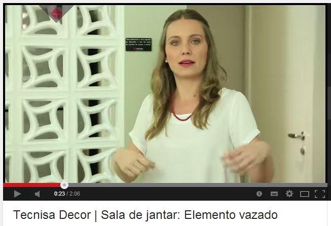 Neste vídeo você vai ver dicas para sua sala de jantar, utilizando o elemento vazado