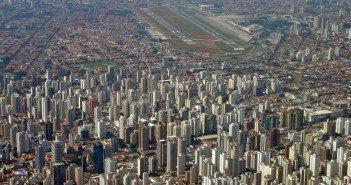vista área do aeroporto de congonhas em São Paulo