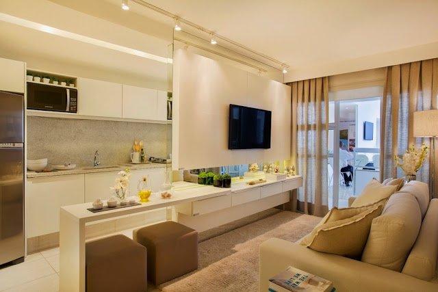Salas pequenas veja como decorálas e inspirese! ~ Como Decorar Uma Sala De Estar E Jantar Com Pouco Dinheiro