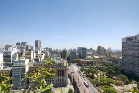visão aérea da região central da cidade de são paulo