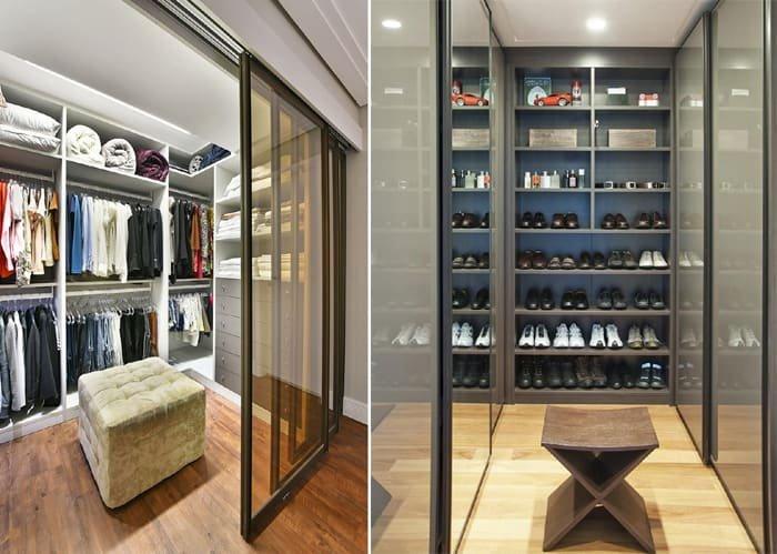 closet com portas de correr