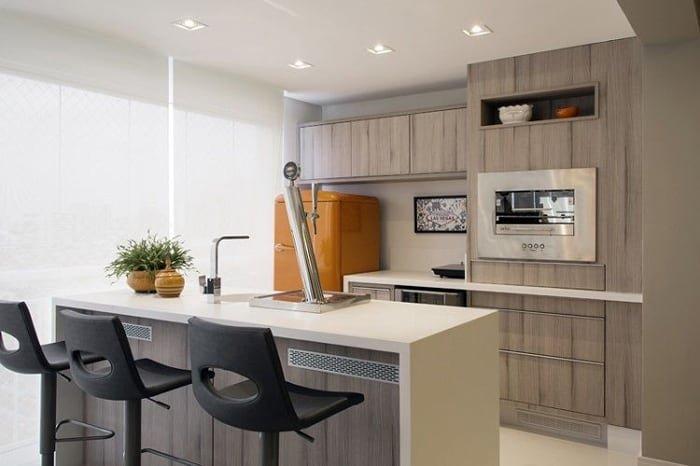 cozinha aberta mobiliada