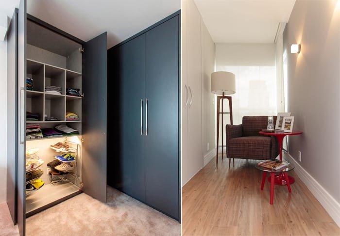 otimização de closet em espaços pequenos