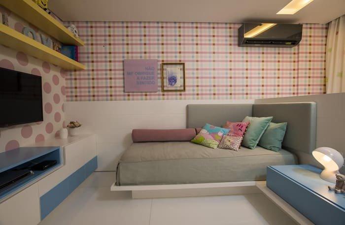 móveis azuis quarto feminino