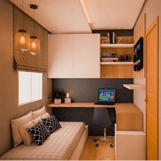 Ideias criativas para decorar o seu quarto pequeno