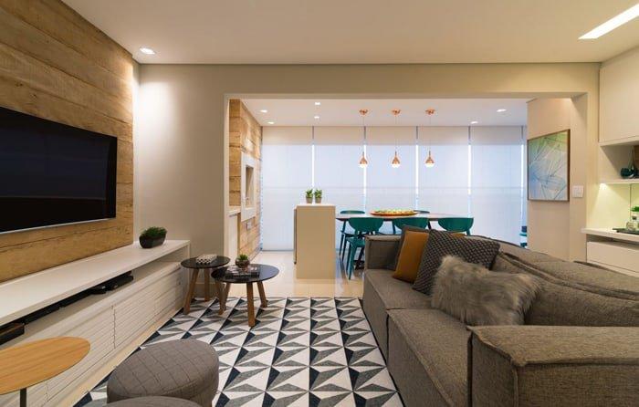 tapetes geométricos na decoração