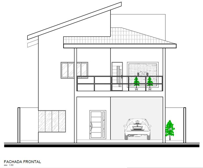 projeto simplificado de casa