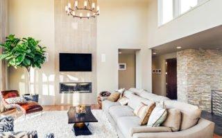 sala de estar de imóvel de alto padrão