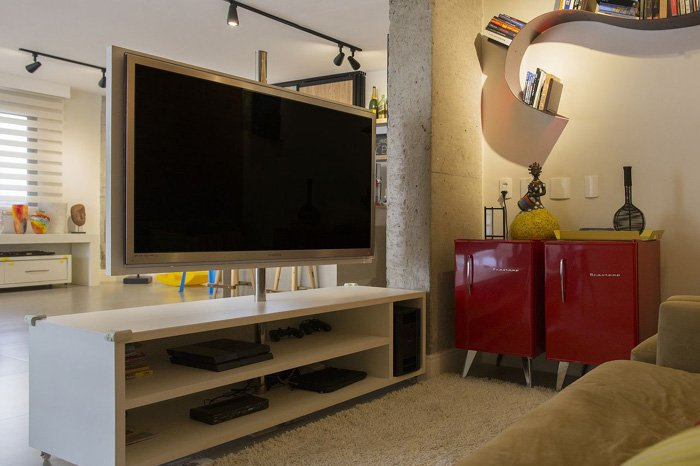 painel de tv giratório