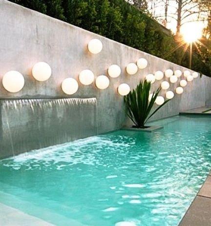 cascata feita de concreto