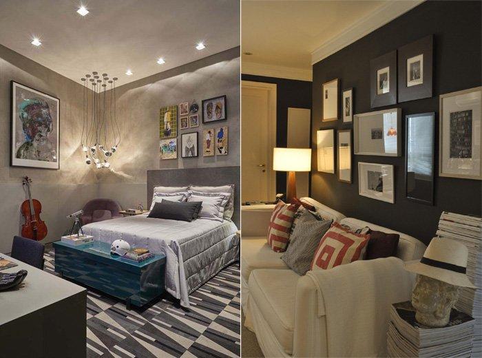 exemplos de aplicação de quadros decorativos com bom gosto